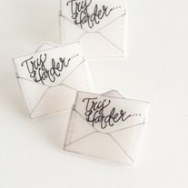 Try Harder Letter Pin  medium photo