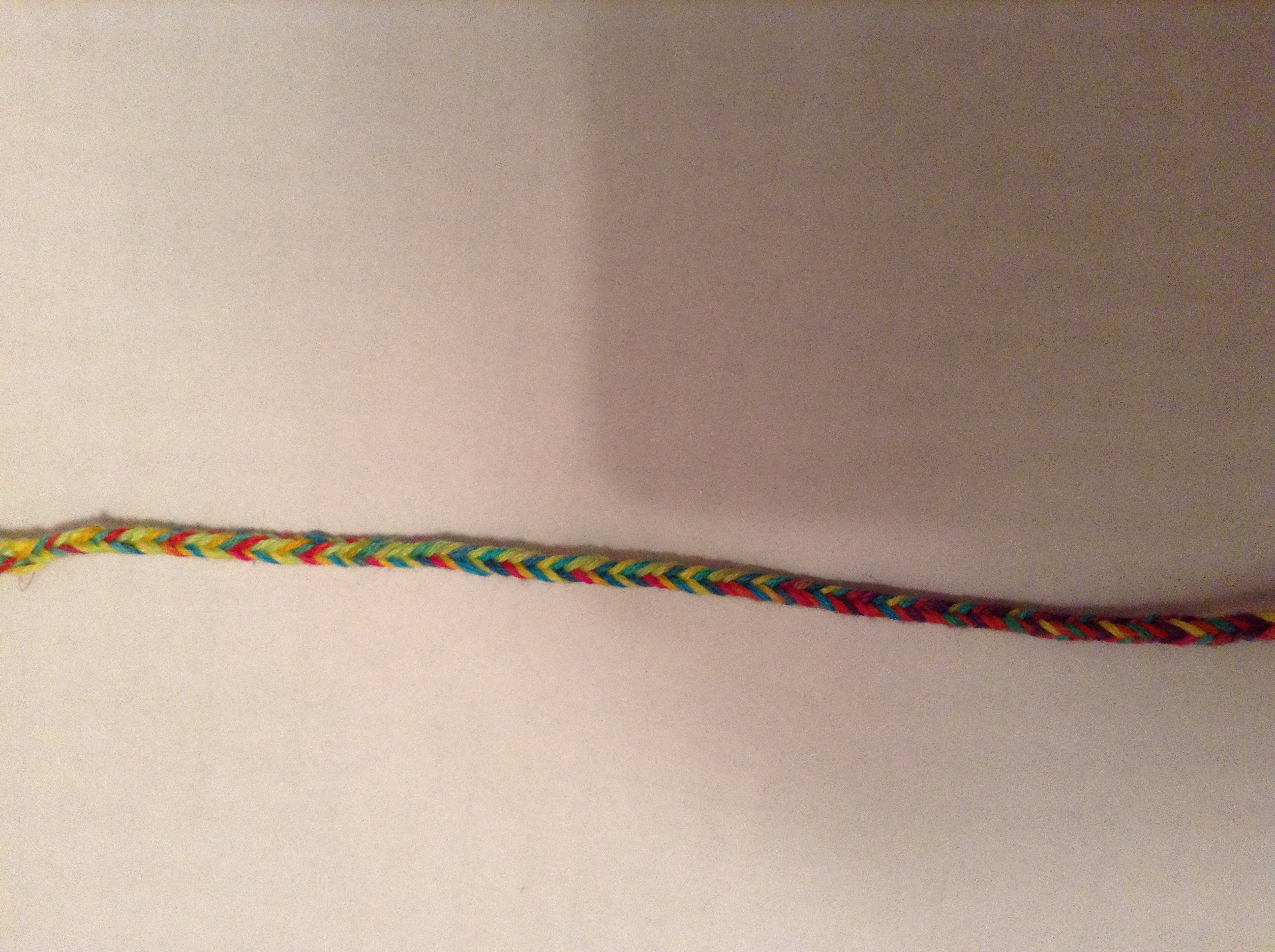 Brilliant bracelets co rainbow fade 5 string weave for How to weave a net with string