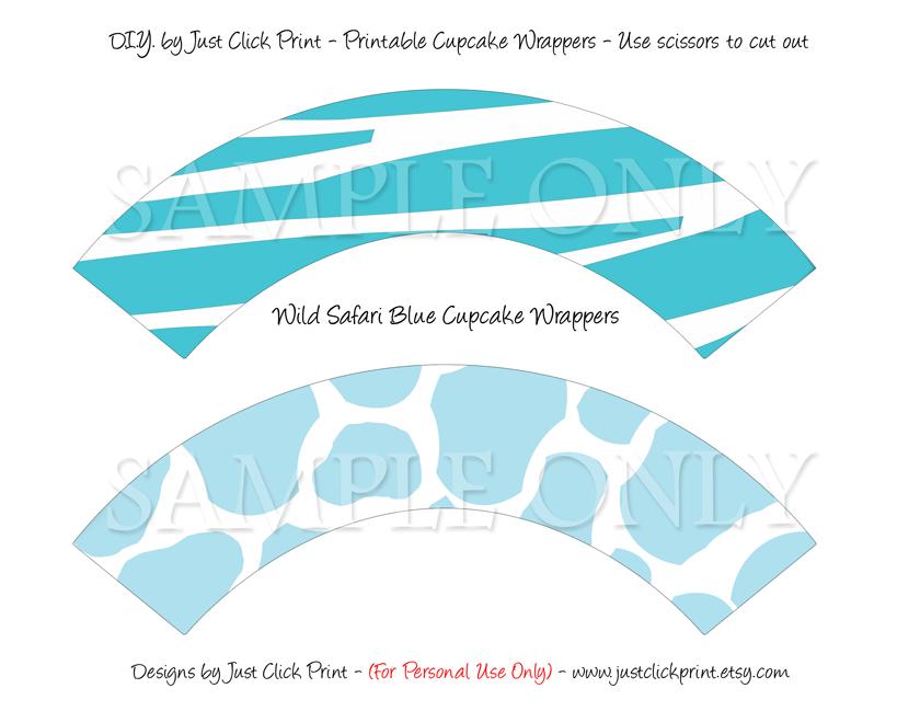 Wild Safari Blue Baby Shower Photo Invitation Printable · Just Click ...