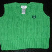 Green Sweater Vest-Chaps Size Newborn