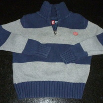 Gray/Blue Sweater with Zipper-Chaps Size 4