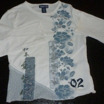 White Long Sleeve Floral Shirt-Limited Too Size XXS 6/7