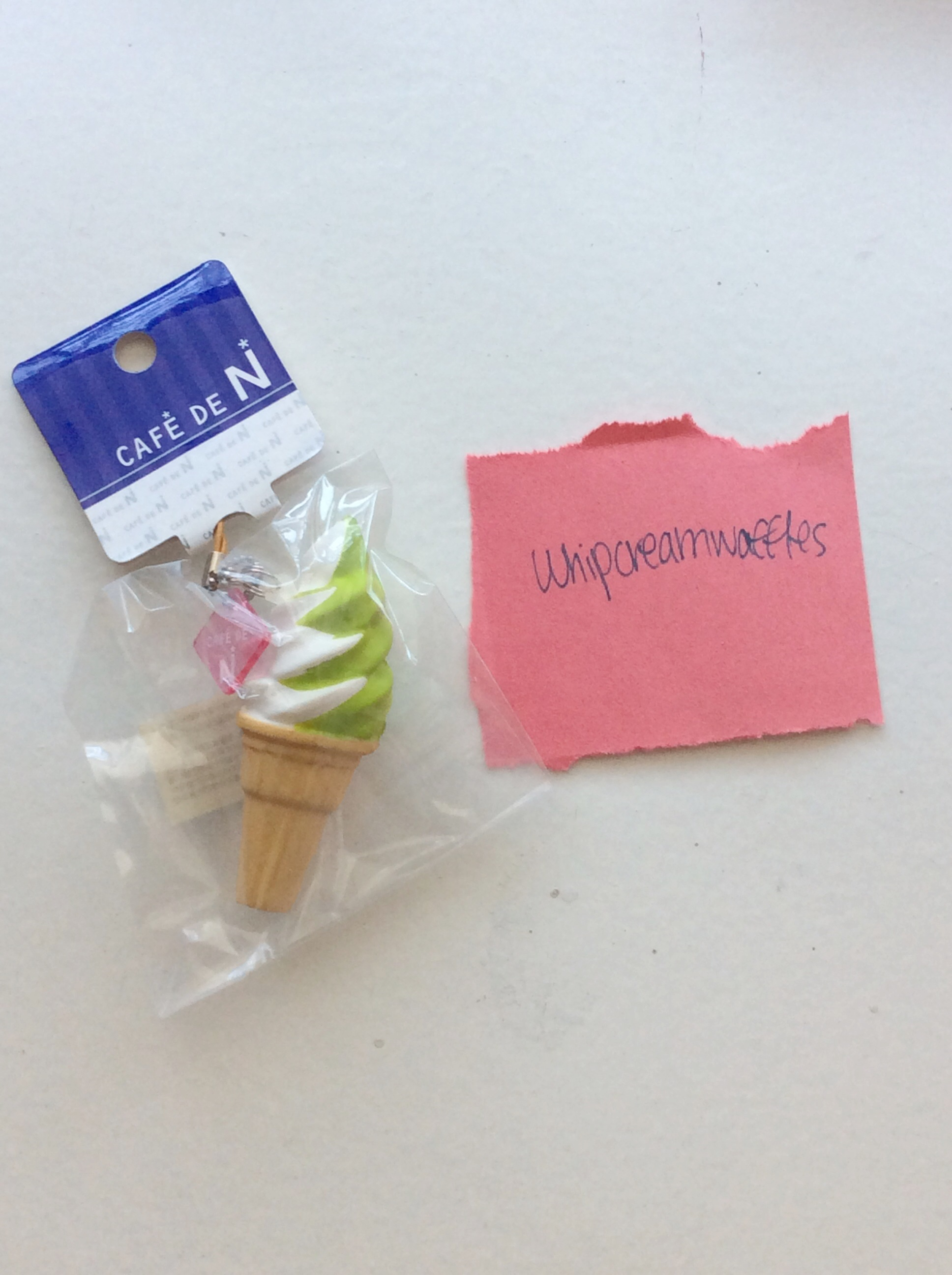 Super Rare Original Cafe de N Green Soft Serve Ice Cream Squishy ? Whipcreamwaffles ? Online ...