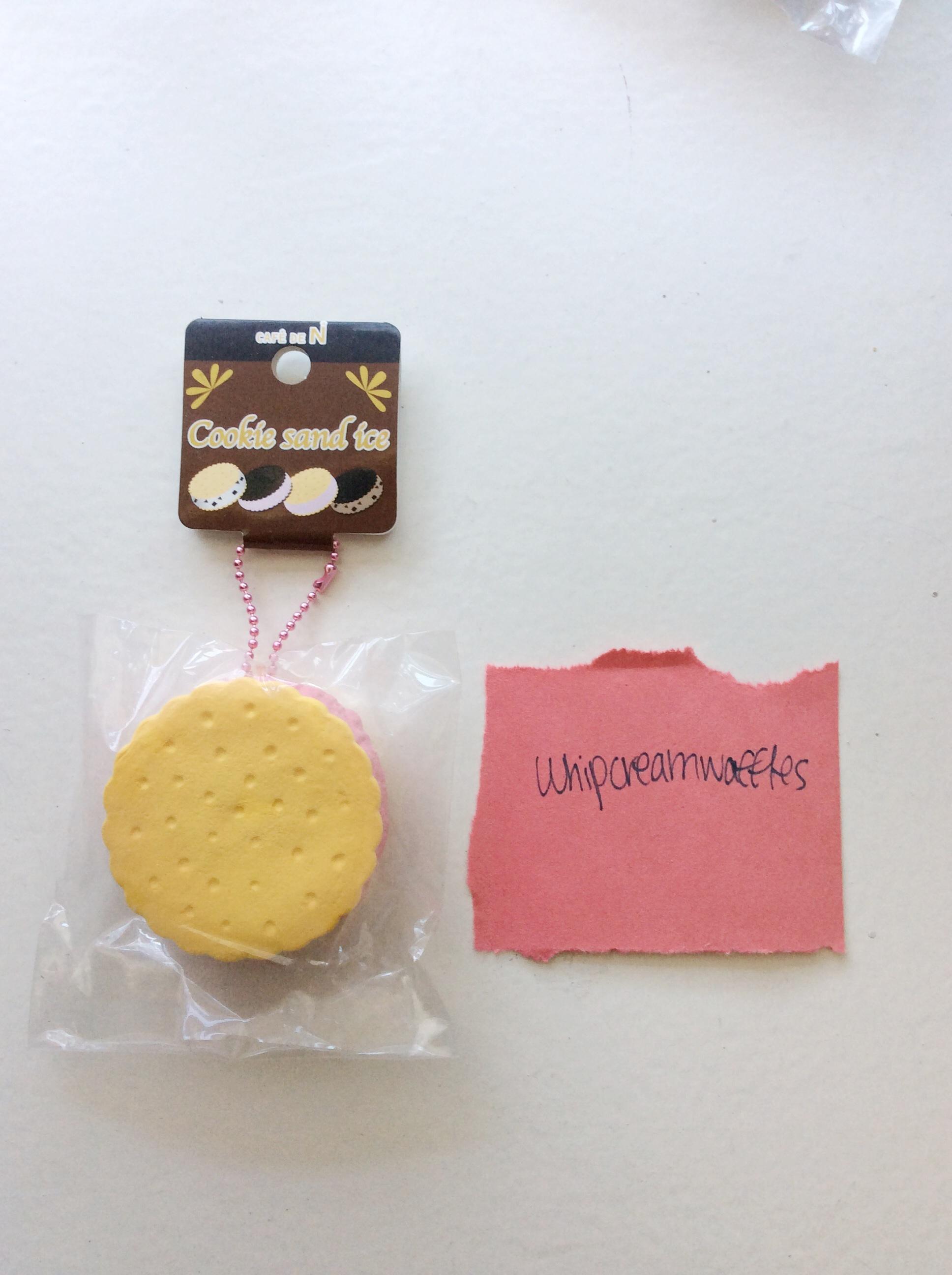 Cafe De N Strawberry Squishy : Rare Reproduced Cafe De N Vanilla Strawberry Ice Cream Sandwich Squishy ? Whipcreamwaffles ...