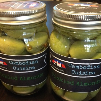 Organic cambodian olives (pickled almond nuts)