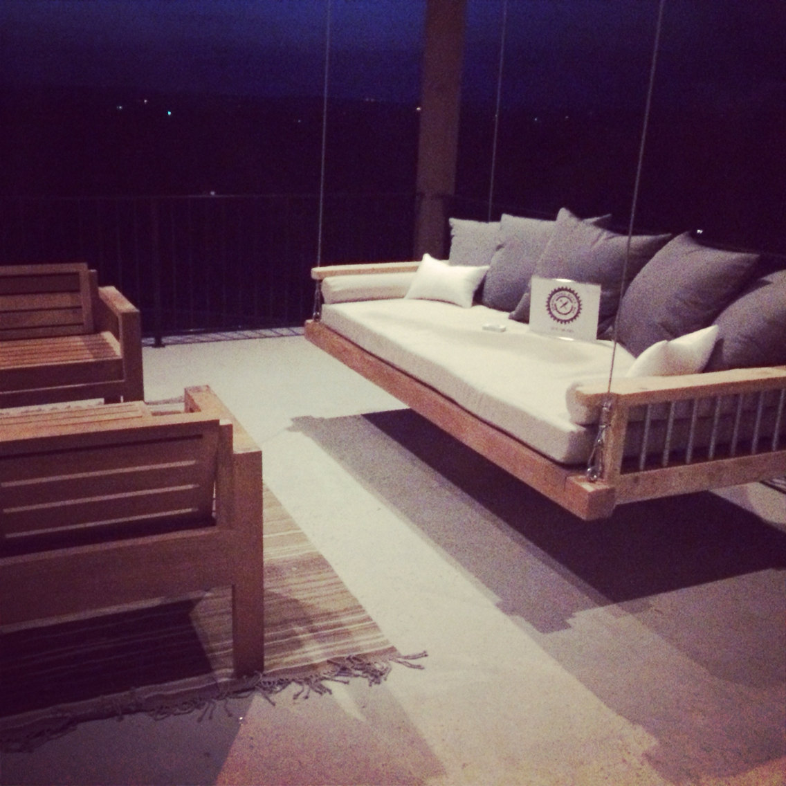 Swing bed porch swing outdoor bed hanging bed bed for Hanging bed