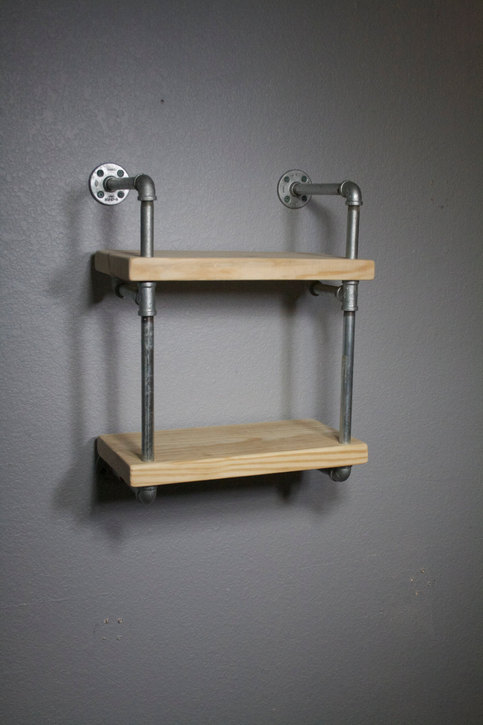 Pipe Shelving Industrial Furniture Wall Mounted Shelving