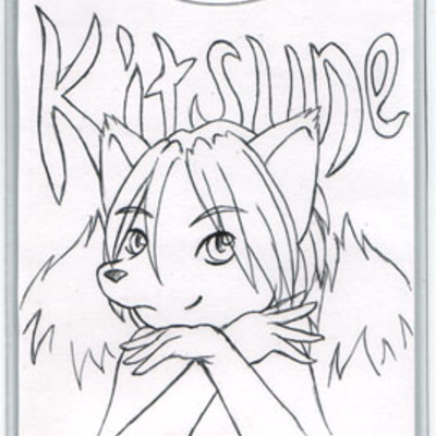 Character badge art commission- ink or pencil lineart