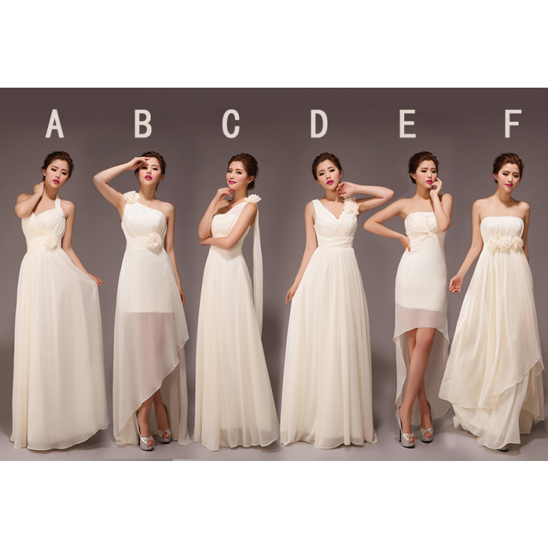 champagne bridesmaid dresses, long bridesmaid