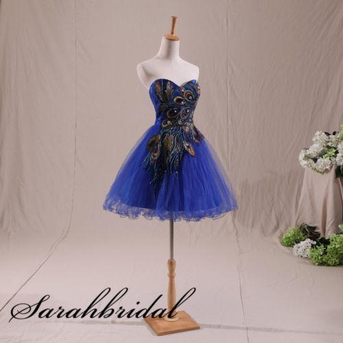Black Peacock Prom Dress