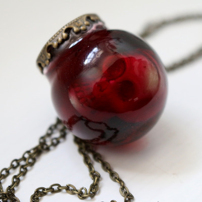 Bloody mary specimen jar necklace