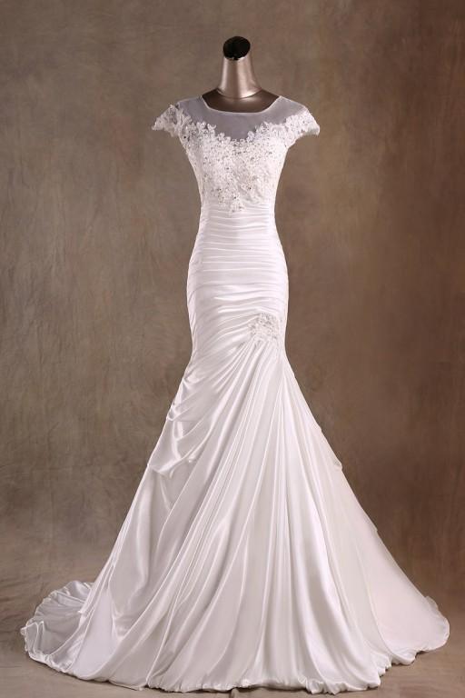 Ivory White Lace Tulle V Neckline Wedding Dresses Wedding Bridal Gown Autoalive Online