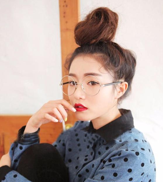 Glasses Frame For Asian Face : Korean Round Framed Glasses