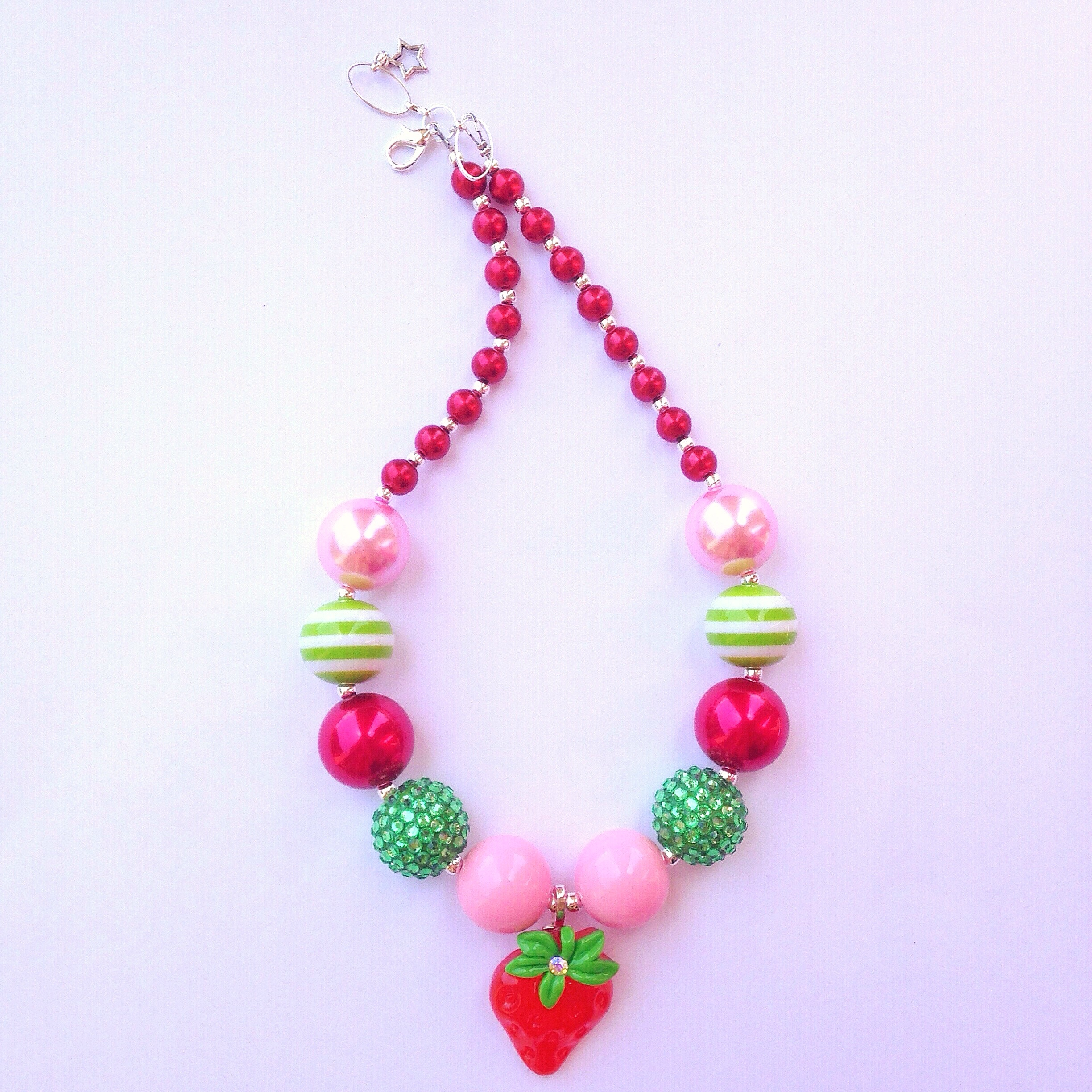 Strawberry shortcake necklace love blooms here online for Strawberry shortcake necklace jewelry