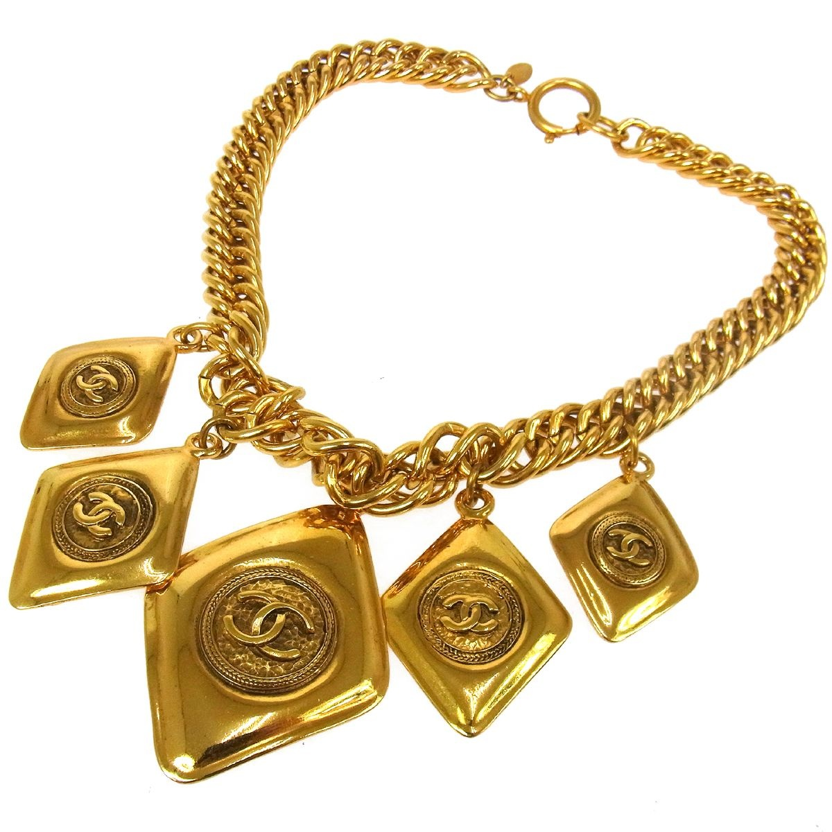 authentic vintage chanel gold necklace truc de chic