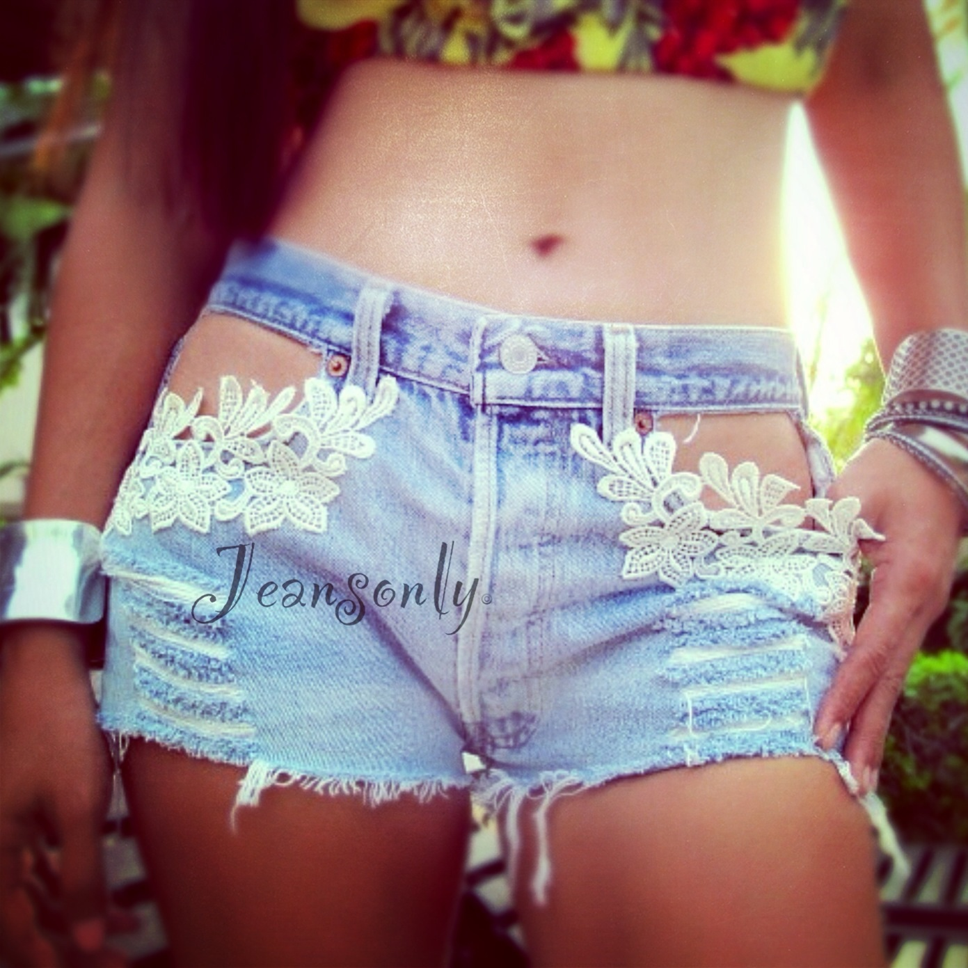 Фото джинсовые шорты своими руками