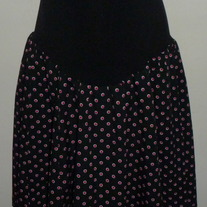 Black Skirt with Pink Dots-Motherhood Maternity Size Large  CL413