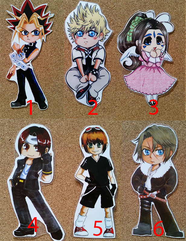 Anime Chibi Fanart Laminated Card