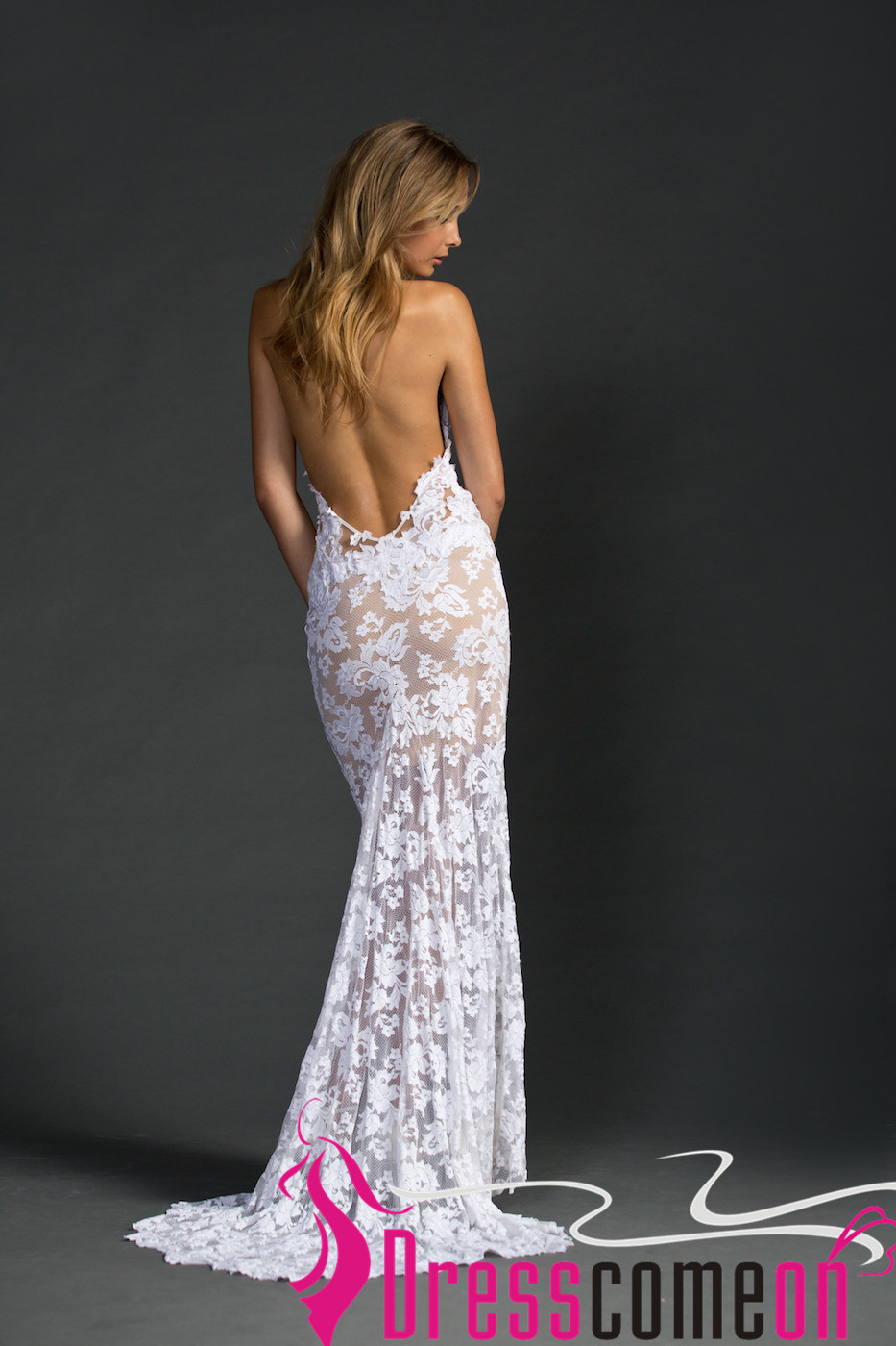 Beach backless wedding dress sexy mermaid lace white open backs beach backless wedding dress sexy mermaid lace white open backs summer wedding dresses thumbnail junglespirit Images