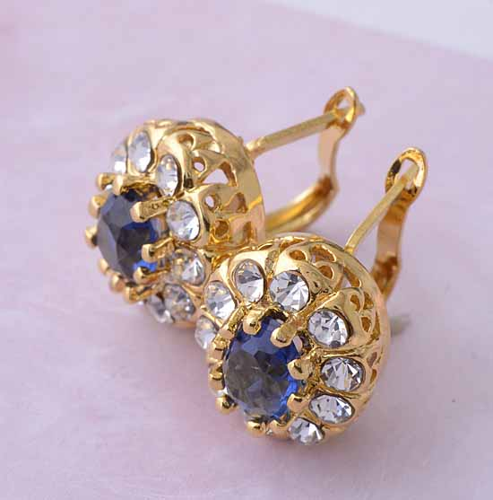 Stunning Gold CZ Earrings Gold Jewelry Gold Jewelry Online Shop