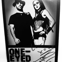 Bitten & Autographed 4x6 Promo Card: Kimberly and Junior