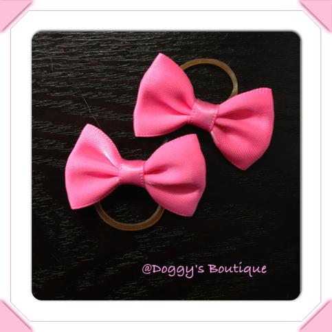 pink hair bows pair on storenvy