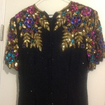 Vintage black and colorful Sequins dress size 10!