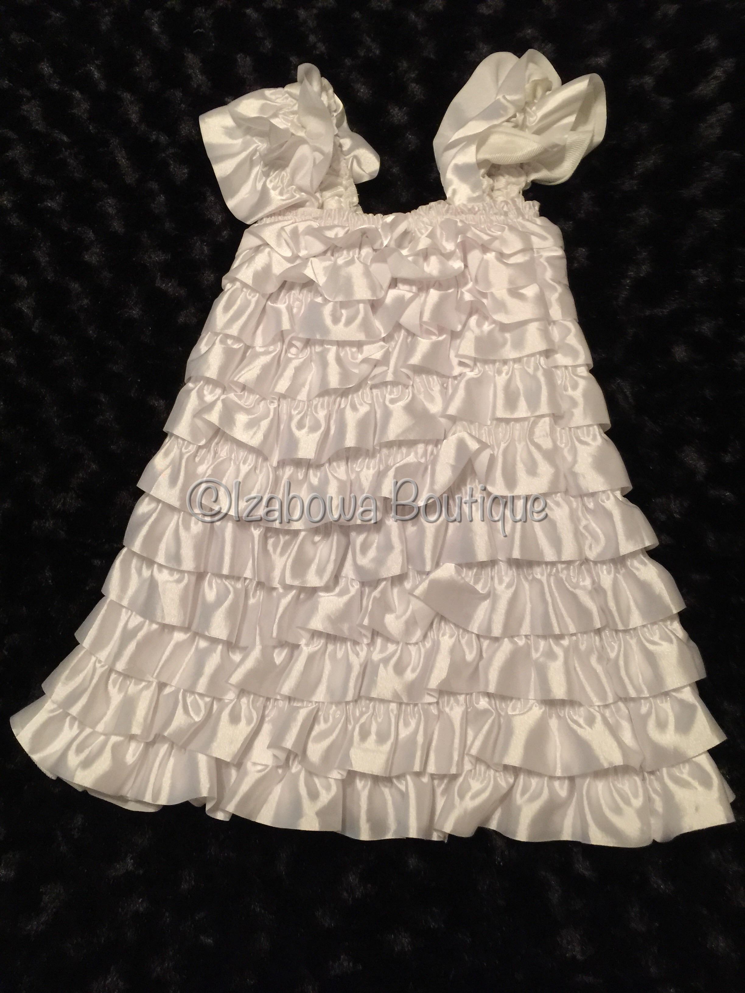 White Satin Romper Dress u00b7 izaBowa Boutique u00b7 Online Store Powered by Storenvy