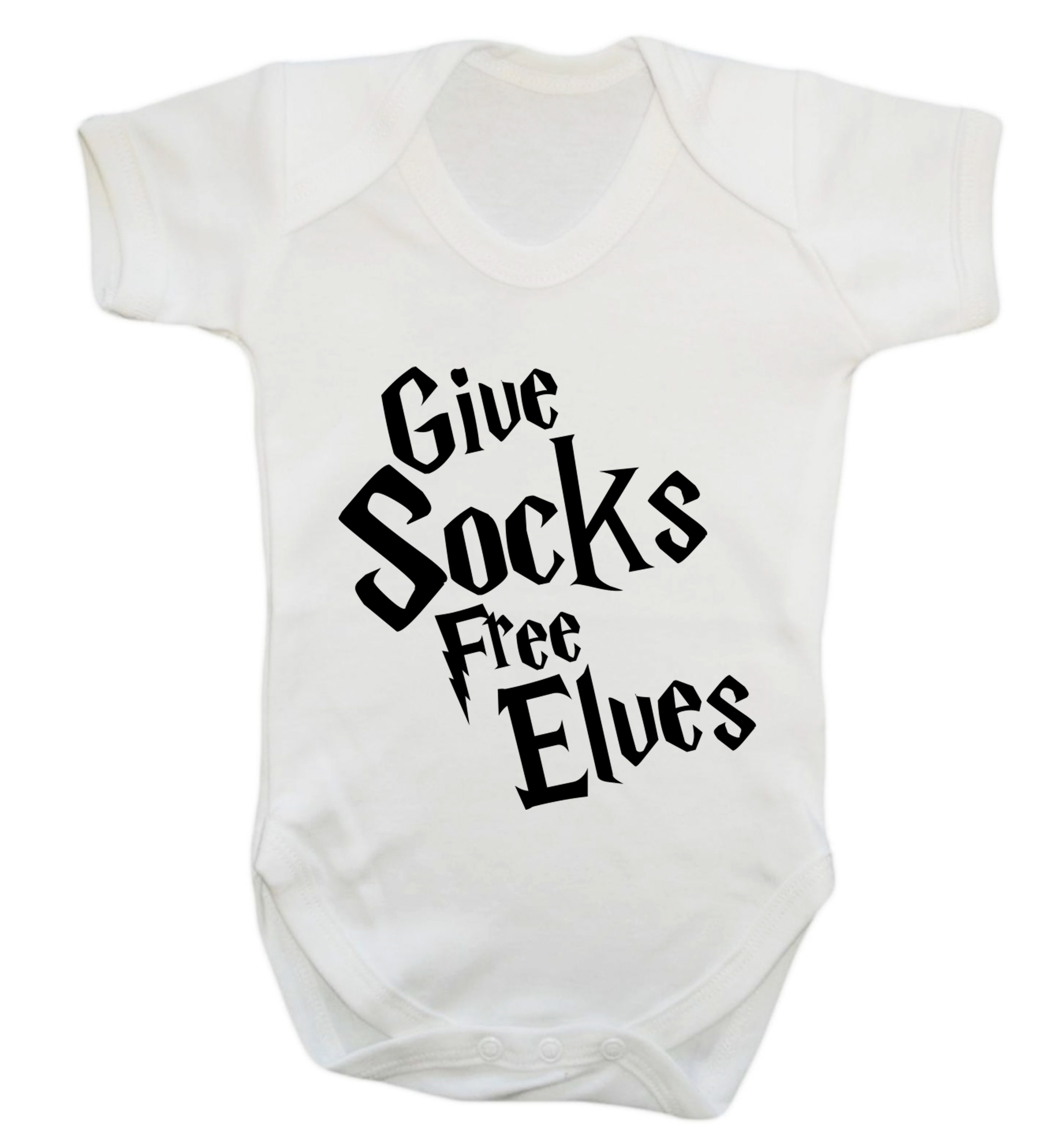 Give Socks Free Elves Baby Vest Grow Dobby Pottermore Funny Quote