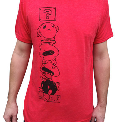 Mario tshirt mens cotton blend red by revival ink and imps and monsters