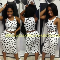 Gun frenzy high waist skirt
