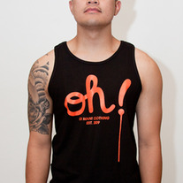 The Dripping Oh! Tank in Black