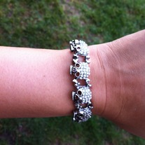 All around Skull bracelet in Silver