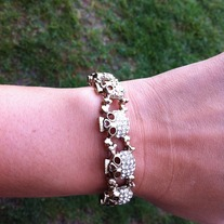 All Around Skull Bracelet in Gold