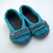 Two Tone / Marled Embellished House Slippers - *Custom Made to Order Only*