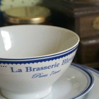 Brasserie bleu bowl 3 wick candle