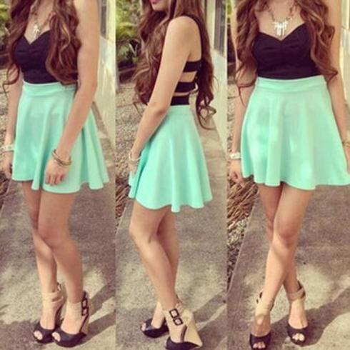 Short prom dress, backless prom dress, mint prom dress, black prom ...