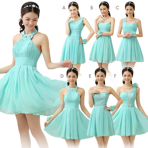 Mint Bridesmaid Dresses Cheap