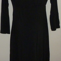 Black 3/4 Length Sleeve Dress-Oh Baby By Motherhood Size Small  GS513