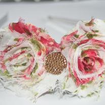"""Raspberry Cream"" Shabby Sass headband"