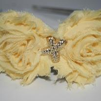"""Luscious Lemon"" shabby sass headband"