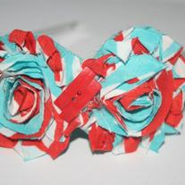 """Thing 1 and Thing 2"" shabby sass headband"