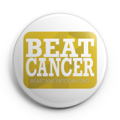 Beat cancer button (pin)