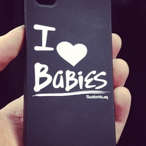 I Heart BaBies iPhone 4 & 4s soft cases