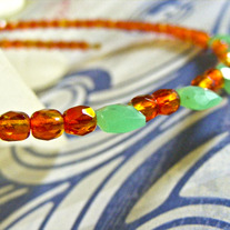 Chicklets Choker Glass and Gemstone Necklace