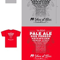 10 Years of Beer Eye Chart T-Shirt