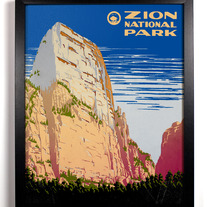 Image of Zion National Park, Giclee Art Print, 8 x 10 inches