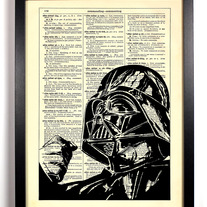 Image of Star Wars Darth Vader, Vintage Dictionary Print, 8 x 10