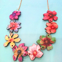 Laser Cut Tropical Flower Necklace
