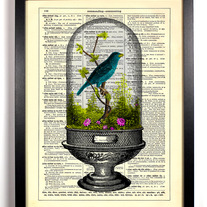 Image of Sitting Pretty Terrarium, Vintage Dictionary Print, 8 x 10